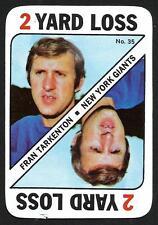 1971 Topps Football Game Card  FRAN TARKENTON  Vikings  # 35  Excellent  HOF
