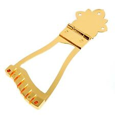 Gold 6 String Jazz Guitar Bridge Trapeze Tailpiece For Hollow Body Archtop Parts