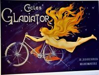 Clément-Gladiator CYCLING Huge ORIGINAL Stone LITHOGRAPH Limited Edition BICYCLE