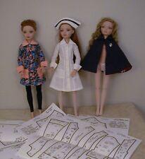 "Nurse Uniform/Cape/Cap/Stockings Patterns 16"" Tonner/Wilde Imagination Ellowyne"