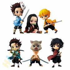 6pcs/set Demon Slayer Hashibira Inosuke Kamado Tanjirou Action Figure Model Toy