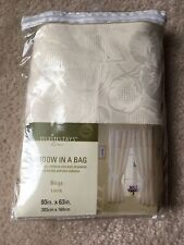 Mainstays Window in a Bag Curtains Drapes Beige 80x63 Panels Valance