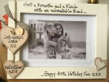 Personalised Photo Frame by Filly Folly 40th Birthday Gift