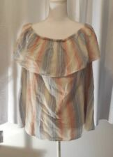 Vintage America Blues Womens Striped Off the Shoulder Size 2X NWT$64 BIN$23