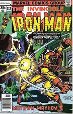 Iron Man Comic Book #112, Marvel Comics 1978 Very Fine/Near Mint