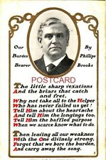 """OUR BURDEN BEARER"" by PHILLIPS BROOKS. The sharp little vexations... CPYRT 1908"
