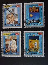 Yémen (Royaume du) 1969 - lot de 4 timbres oblitérés - Exploration spatiale