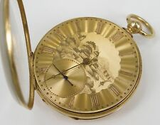 Rare 1800s Solid 18k Yellow Gold H. Savigne Locle Suisse Pocket Watch