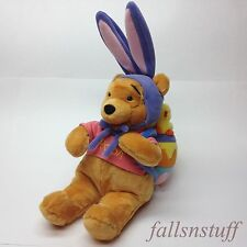 Winnie the Pooh Easter Bunny Plush Doll Bear Spring Egg Chick Pink Purple 17""
