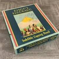 Vintage Dixon's Eldorado Indelible Copying Pencil 201 BOX ONLY Empty Great Look