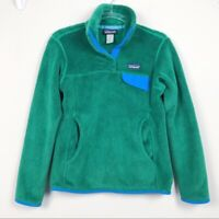 Patagonia Re-Tool Snap-T® Fleece Green Women's Pullover Size Small