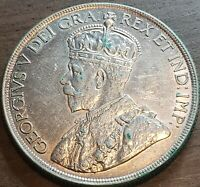 1936 CANADA $1 VOYAGERS King George V Silver Dollar Coin Key Date