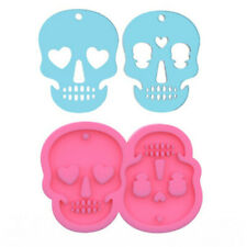 Silicone Skull Pendant Resin Mold Keychain Casting Mould Epoxy Necklace Hanging