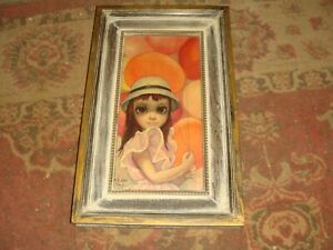 "1962 Margaret Keane Framed Print - AT THE FAIR - 5 1/2"" x 11 1/2"" - Very Nice"