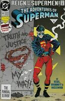 THE ADVENTURES OF SUPERMAN #501 TRUTH AND JUSTICE MY WAY DC 1993 SUPERBOY COVER!