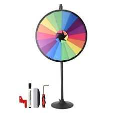 """36"""" 18 Customizable Slots Largest Prize Wheel With Stand Fortune Spinnin"""