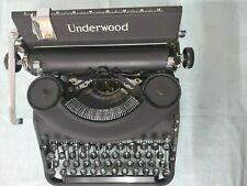 MINTY 1947 UNDERWOOD NOISELESS 77 Typewriter Working Portable Case & Manual