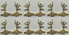 Royal Signals Collar Badges X 6 Pair British Army Regulation Issue (nsn53)