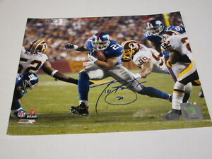 Tiki Barber Run Against Redskins Signed Auto Autographed 8x10 Steiner