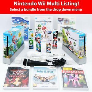 Nintendo Wii Console + Custom Vinyl Wrap! *Choose Your Bundle* Tested & Working