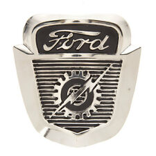 Vintage Ford Cast Iron Badge Wall Decor Collectible Lightning Logo