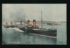 Shipping Isle of Man Steamer TS MONA'S QUEEN paddle steamer c1900/20s? PPC