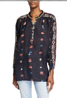 NEW Johnny Was Lasma Embroidered Blouse, Large
