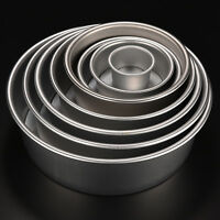 Round Sandwich Cake Bake Tin Pan Mold Mould Kitchen Bakeware Aluminum 8 Sizes lk