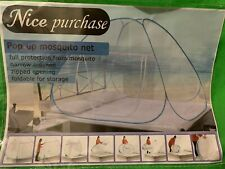 Mosquito Net for Bed Pop Up Nursery Guard Tent Folding Bottom Canopy Zipper