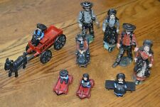 (Lot) Amish Cast Iron Metal Figurines With Acc Collectibles Vintage!