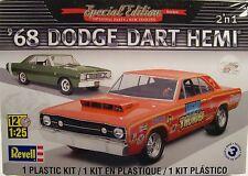 1968 DODGE HEMI DART REVELL 1:25 SCALE 2n1 PLASTIC MODEL CAR KIT