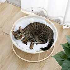 New listing Cat Bed Soft Plush Cat Hammock Detachable Pet Bed with Dangling Ball for Cats