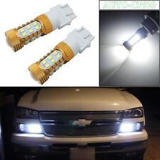 2x HID White 27-3528-SMD LED DRL Daytime Running Light Bulbs 3156 3157 4114 4157