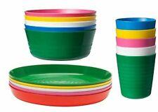 IKEA - KALAS Children Color Bowl, Tumbler and Plate Sets X6 Each (Set of 18)  …