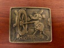 Vintage Disney Mickey Mouse Brass Belt Buckle