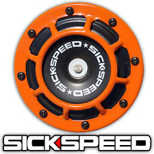 ONE SICKSPEED ORANGE SUPER LOUD ELECTRIC BLAST TONE HORN MOTORCYCLE 12V M1