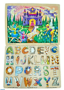 2 Melissa & Doug Wooden Tray Puzzles - LN - COMPLETE