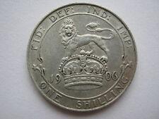 1906 silver Shilling, GVF.