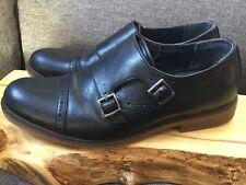 DOCKERS Comfort Zone Men's 9M Black Leather Maycrest Monkstrap  Dress Shoes EUC!