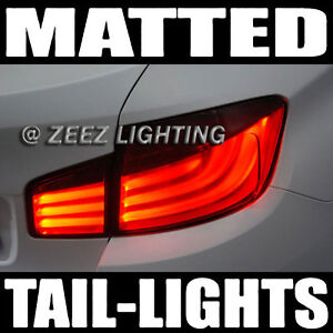 Matte Black-Out Taillight Tint Smoked Head Fog Tail Light Tinted Vinyl Film C97