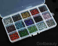 15 Colours (21600pcs) ss6 Iron On Hot Fix Rhinestones