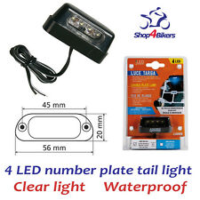 Motorcycle motorbike LED number plate tail light from Shop4bikers & FREE P+P