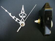 CLOCK MOVEMENT QUARTZ SHORT SPINDLE. 76mm SILVER  HANDS