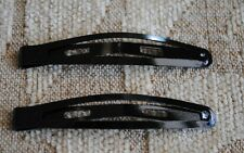 25 pcs black snap long hair clips size 6 cm.