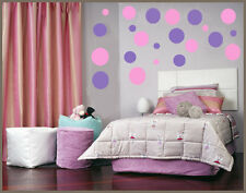 "10"" 8"" 6"" -264 POLKA DOTS VINYL WALL STICKER room decor"