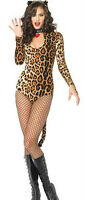 Adult Cougar Catsuit Outfit Fancy Dress Costume Sexy Leopard Cat Wild Animal