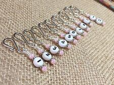 Row Counter Stitch Markers for Knitting & Crochet- Removable Number Markers
