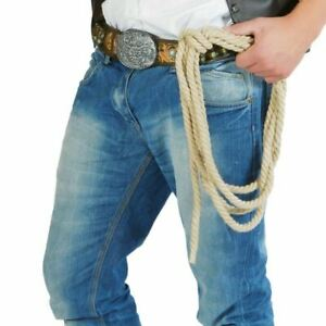 Thick Rope Cowboy Lasso 2.4m Long Fancy Dress Accessory