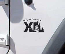 2 of Jeep XJ tree mountain Decal Wrangler Decals Stickers