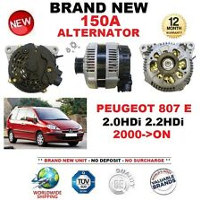 FOR PEUGEOT 807 E 2.0HDi 2.2HDi 2000-ON BRAND NEW 150A ALTERNATOR OE QUALITY